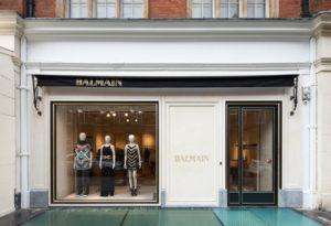 Магазин Balmain в Лондоне