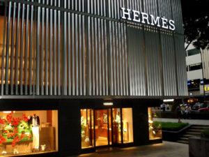 Магазин Hermes в Сингапуре