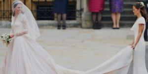 Свадебное платье от Alexander McQueen для Кэтрин Миддлтон