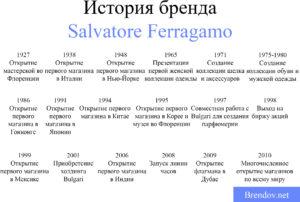 Salvatore ferragamo история бренда работа в норвегии для девушки