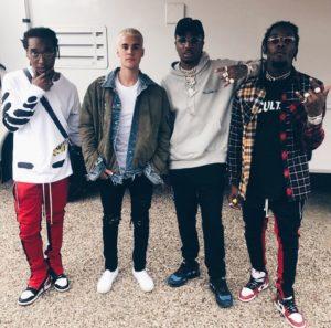 Migos и Justin Bieber в джинсах от Amiri