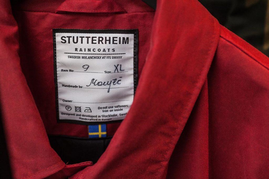 Лейбл дождевика Stutterheim
